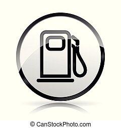 燃料泵, 白的背景, 图标