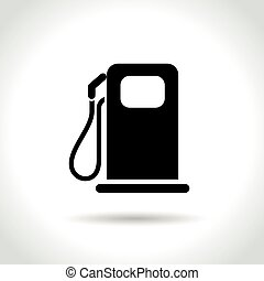 燃料, 白的背景, 图标
