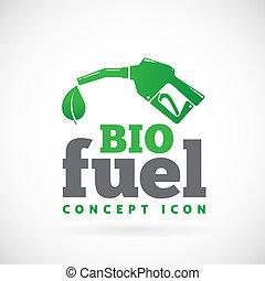 燃料, bio, シンボル, ベクトル, アイコン