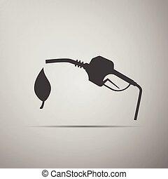 燃料, bio, シンボル, ベクトル, icon.