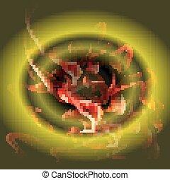 燃焼, 円, 火, 抽象的