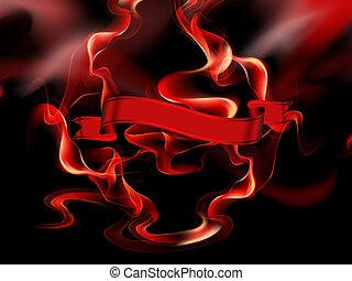燃焼, 旗
