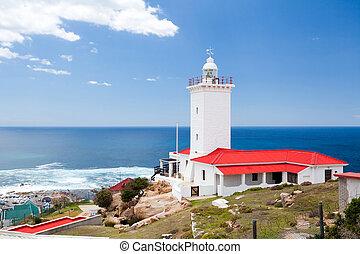 燈塔, 在, mossel, 海灣, 南非