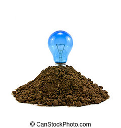 燈泡, 在, 土壤