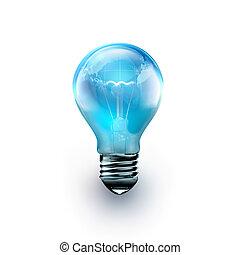 燈泡, 由于, 世界, 裡面