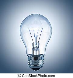 燈泡, 由于, a, 發光, 細絲