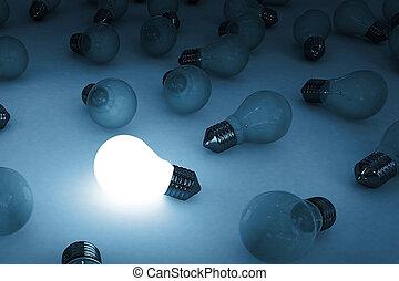 燈泡, 發光