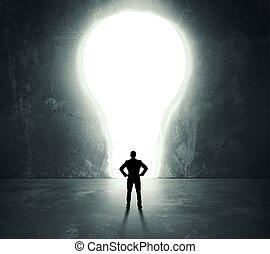 燈泡, 門