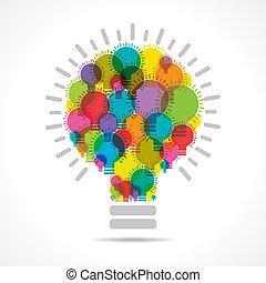 燈泡, 鮮艷, 形式, 大, 燈泡