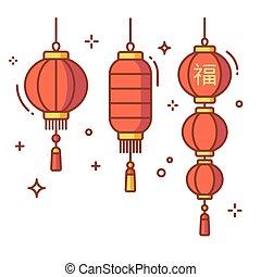 燈籠, 集合, 漢語