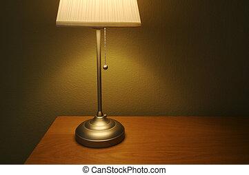 燈, 以及, 桌子