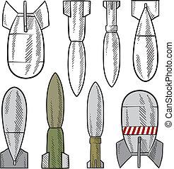 爆弾, 各種組み合わせ, スケッチ