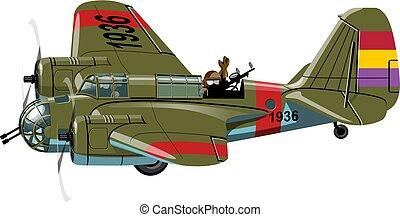 爆撃機, 漫画, レトロ