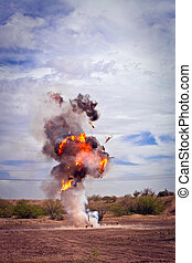 爆発される, 映画, pyrotechnic, 冷蔵庫, チーム