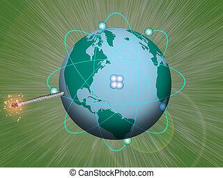 爆発物, 核, 地球