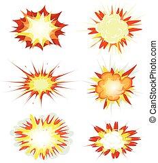 爆発, セット, 本, 爆弾, 漫画, 爆発