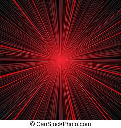 爆発, 抽象的, ストライプ, 黒い背景, 赤