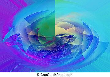 爆発, 抽象的, 真中に置かれた, 多色刷り, 背景, 最新流行である, 美しい
