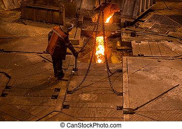 爆発, 製鋼工, 炉