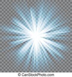 爆發, 發光的光