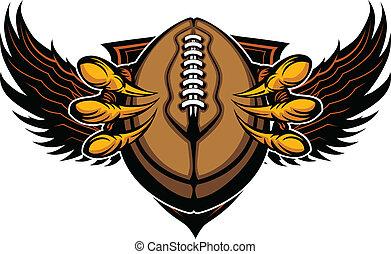 爪子, 矢量, 鷹, 爪, 足球, 插圖
