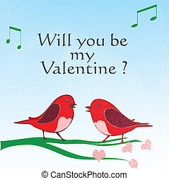 爱鸟, valentine