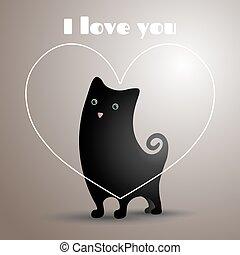 爱, 黑色的猫