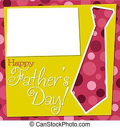 父親節, 刪去, 領帶, 卡片, 在, 矢量, format.