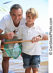 父親, 釣魚, 兒子