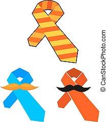 父, おめでとう, mustache., カラフルである, イラスト, 要素, day., ベクトル, タイ, 漫画, design.