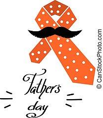 父, おめでとう, mustache., 色, イラスト, 要素, day., ベクトル, タイ, 漫画, design.