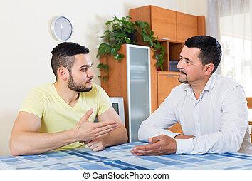 父 と 息子, 持つこと, 会話