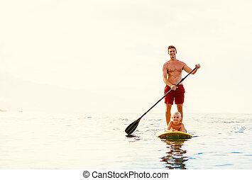 父 と 息子, 立ち上がりなさい, かいで漕ぐ