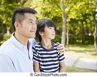 父, アジア人, 息子