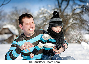 父, 冬, 息子
