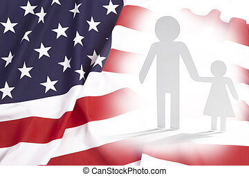 父, 単一, 娘, 親, アメリカ