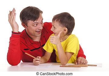 父, 図画, 息子