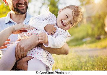 父, 娘, 幸せ