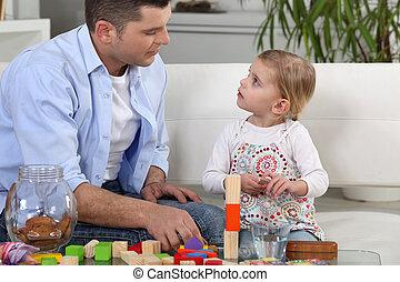父, 娘, 遊び