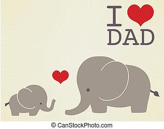 父, 幸せ, 日, カード