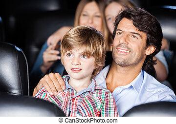 父, 息子, 劇場, フィルム, 監視