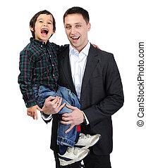 父, 息子, 時間, 楽しみ, 持つこと, 幸せ
