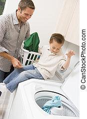 父, 息子, 洗濯物