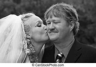 父, 接吻, 得ること