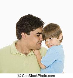 父, son.