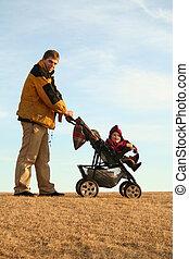 父, stroller