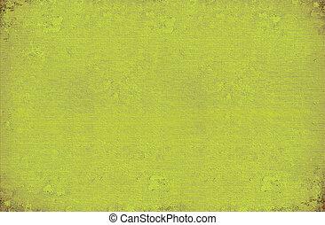 牆, 加助于, 洗滌, 畫, 綠色的背景