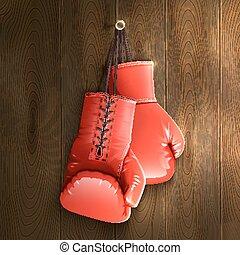 牆, 拳擊手套