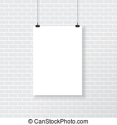 牆, 海報, 懷特磚
