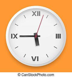 牆, 矢量, 輪, 樣板, 鐘